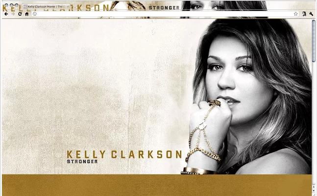 Kelly Clarkson Chrome Theme
