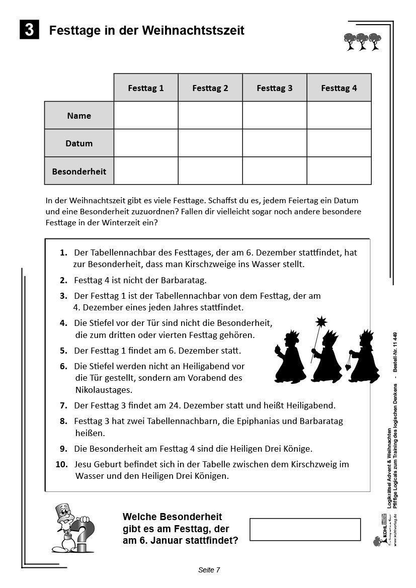 Atemberaubend Kindergarten Einer Tabelle Weihnachten Galerie - Mathe ...