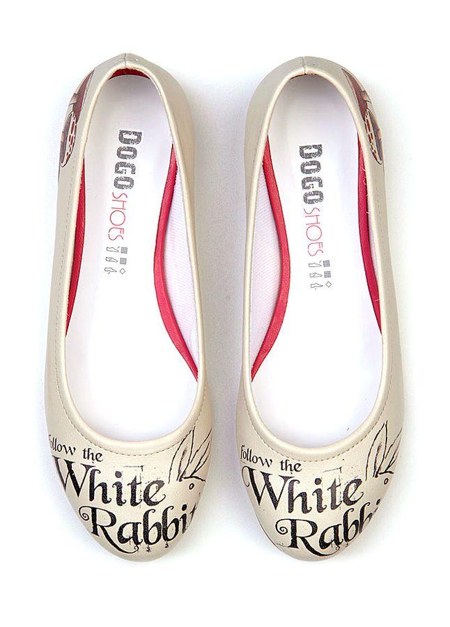 """Ballerinas """"White Rabbit"""" von Dogo"""