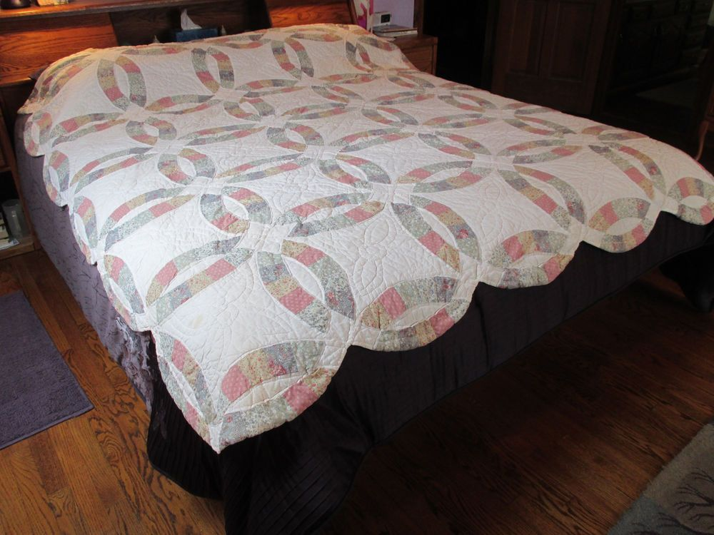 Wedding Ring Quilt Lands End Coming Home Double Full Size Hand