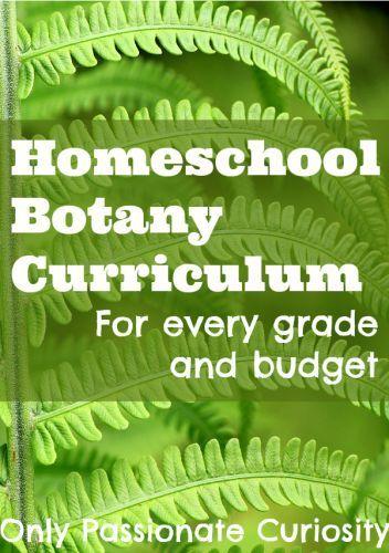 Homeschool Botany Curriculum Homeschooling Pinterest