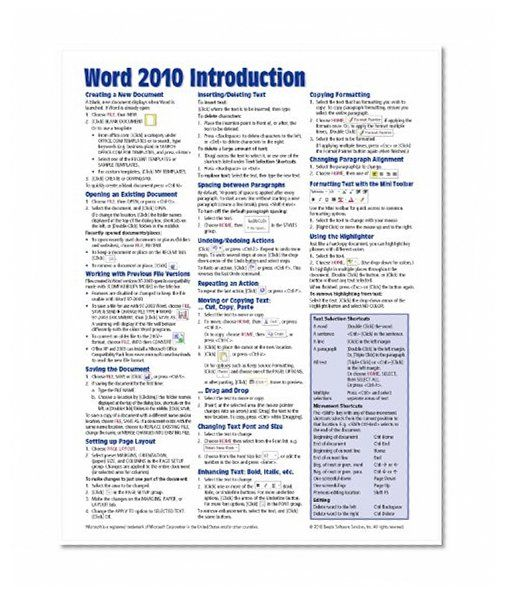 Microsoft Access 2016 Intermediate Quick Reference Guide  Windows Version Cheat Sheet of Instructions Tips amp Shortcuts  Laminated Card