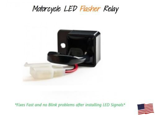Motorcycles 2-Pin LED Turn Light Flasher Blinker Relay Signal Rate Control Fix