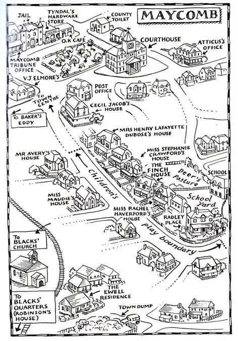 maycomb county map in to kill a mockingbird | educational websites ...