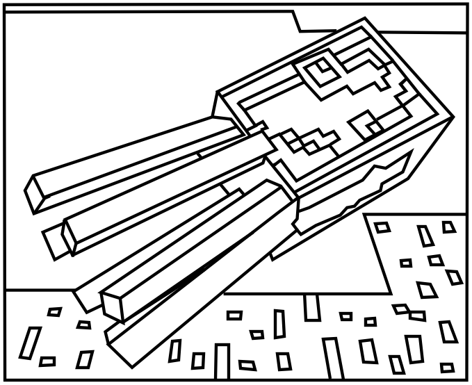 Minecraft Squid Coloring Page Coloring Pages Free Printable Activities Printable Activities