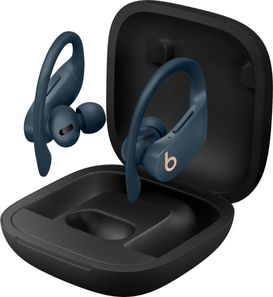 Beats By Dr Dre Powerbeats Pro Totally Wireless Earphones Navy My592ll A Best Buy In 2021 Wireless Earphones Headphone With Mic Beats Pro