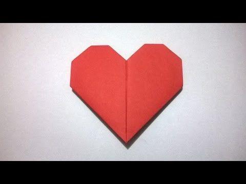 cómo hacer corazón de papel de origami muy fÁcil paso a paso