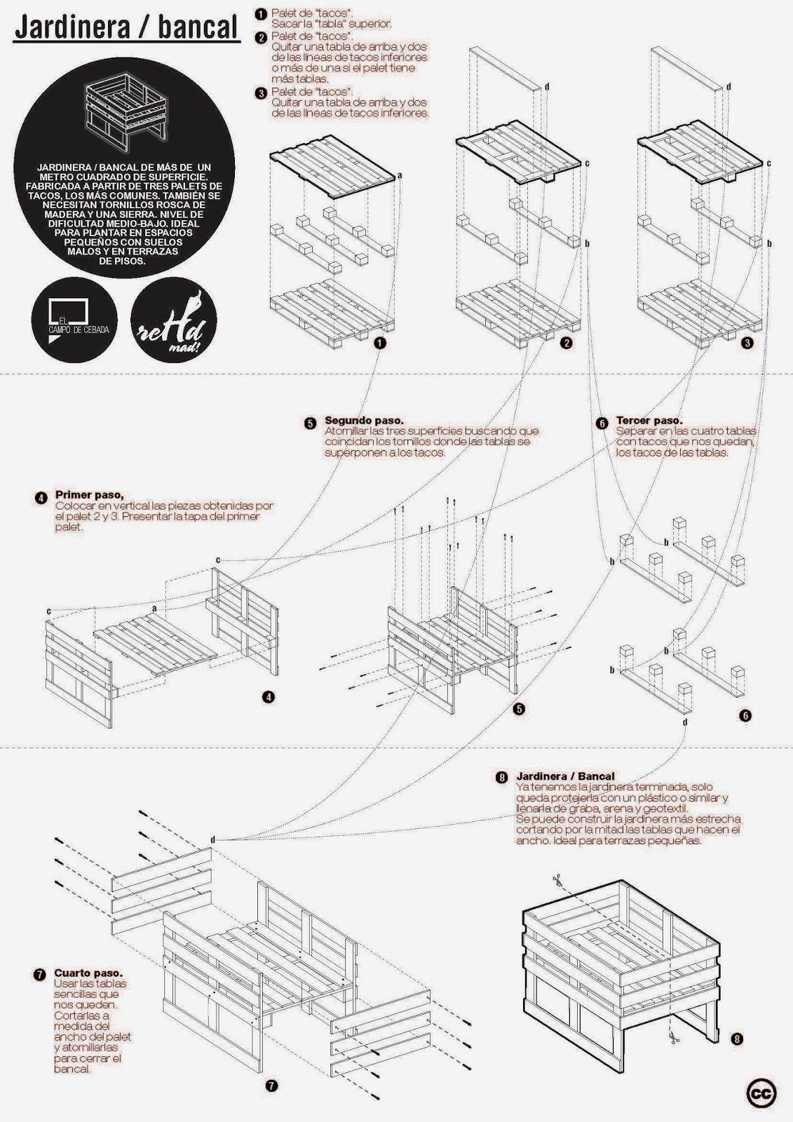 C mo hacer muebles de madera con palets madera tarimas for Muebles palets pdf