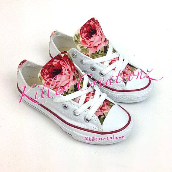 e7fb434933ea Custom Floral Converse for kids