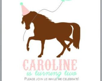Pony Party Birthday Invites