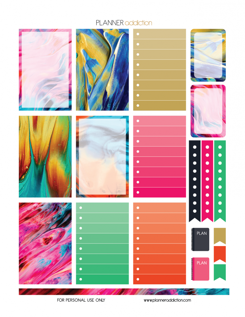 Free large happy planner printable planner stickers for Paint planner