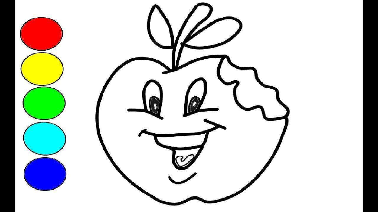 wie zeichnet man apfel für kinder l zeichnen und färben l