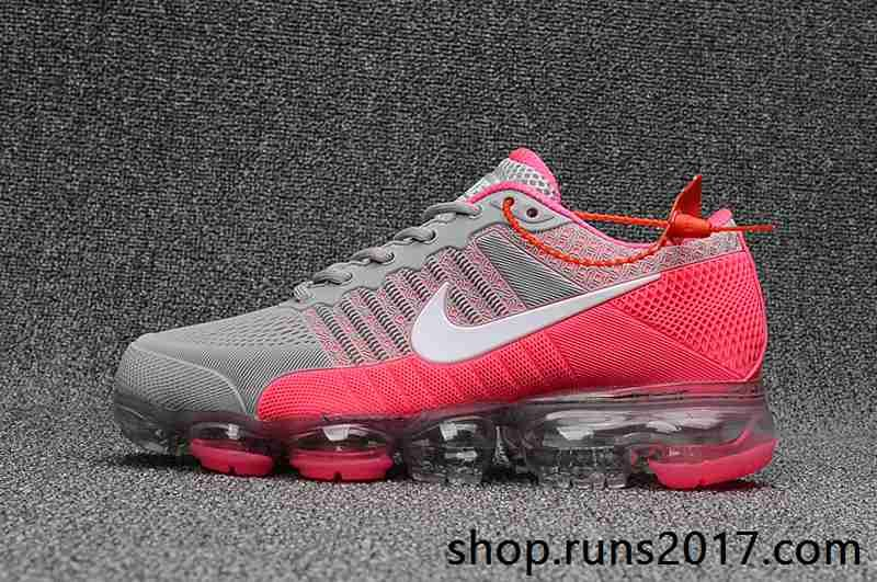 Nike Air VaporMax 2018 KPU Peach White Gray Women Sneakers  b14e7d37c