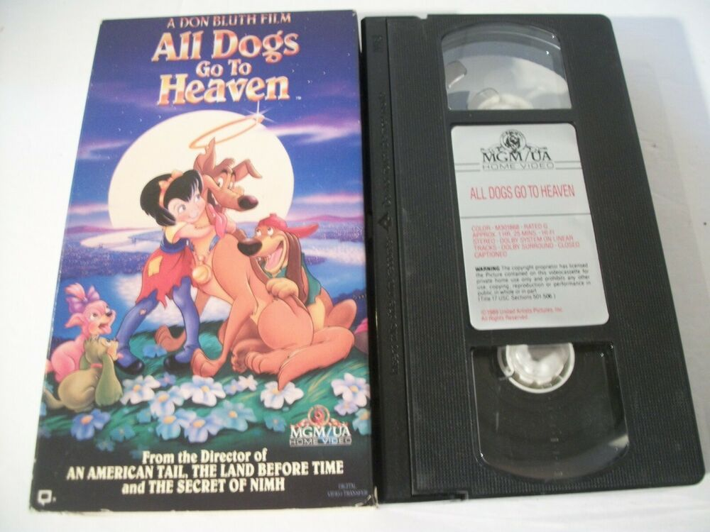 All Dogs Go To Heaven Vhs 1994 Slipsleeve With Images The