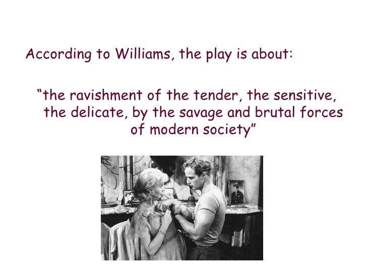 the play is about the ravishment of the tender the sensitive  essays on a streetcar d desire a streetcar d desire intro