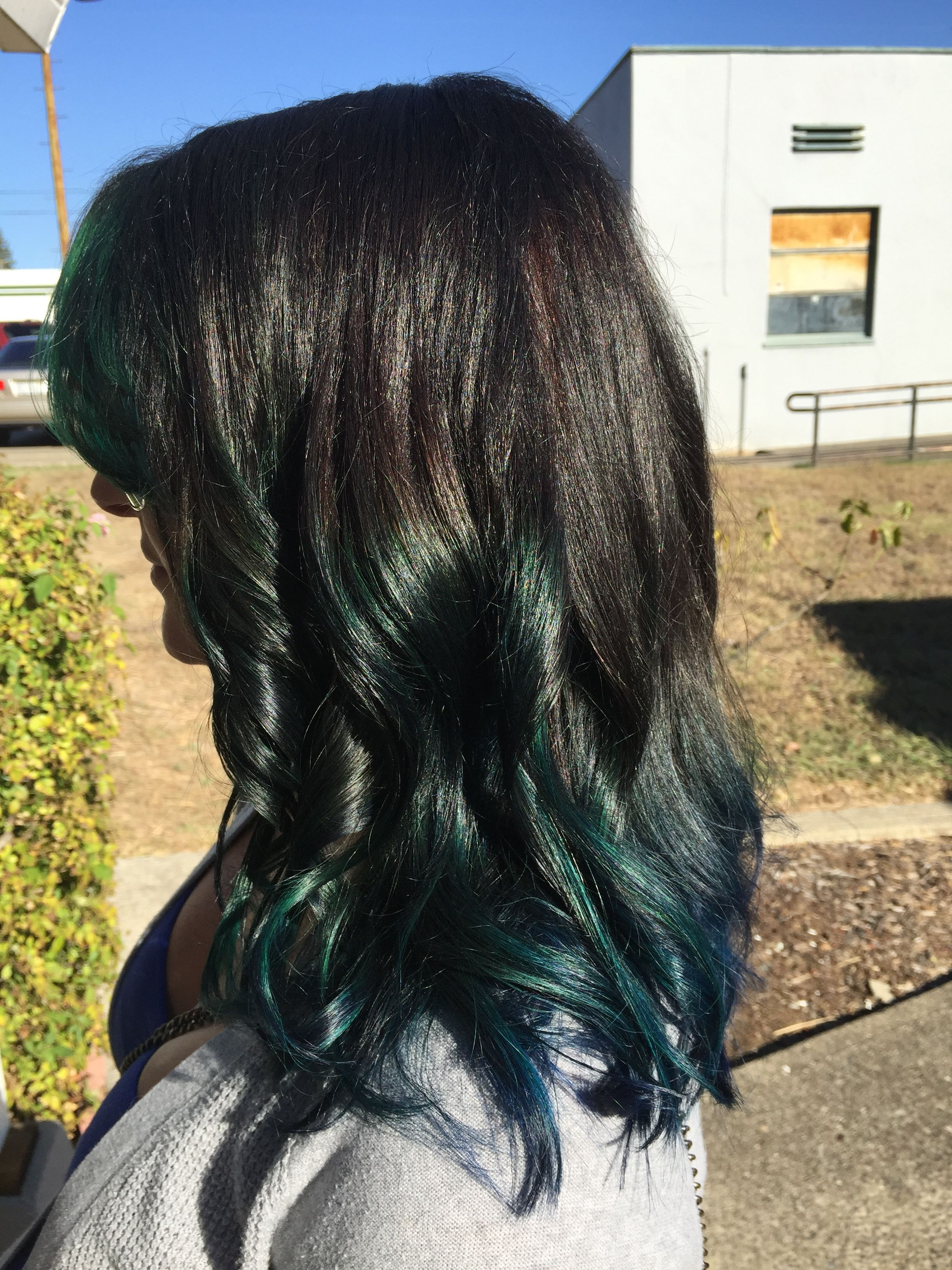 Fun Peacock Greens And Blues Joico Colors Hair By Julie Highlights