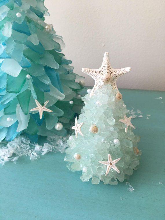 Beautiful Gem Seafoam Green Coastal Sea Glass Small Christmas