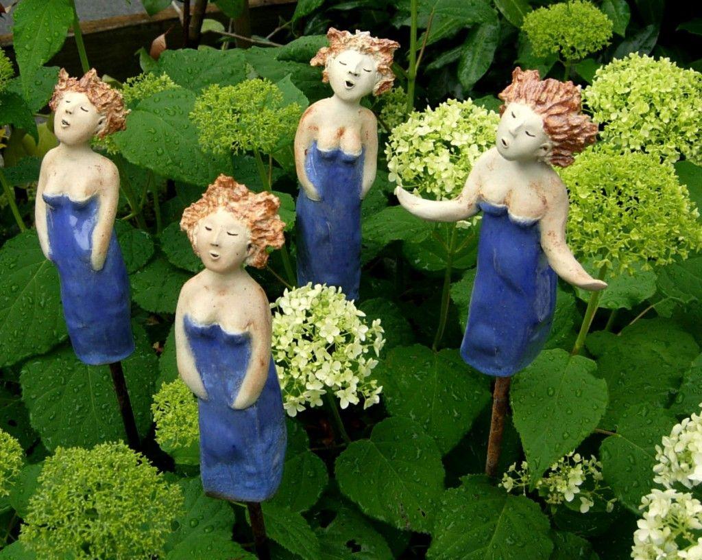 Garten dekorieren 7 au ergew hnliche deko ideen for Gartenskulpturen aus ton
