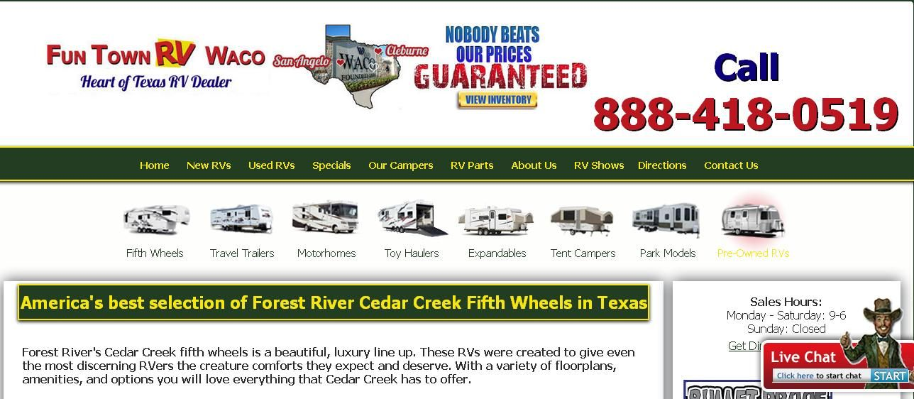 Fun Town RV Waco is your source for fifth wheels for sale