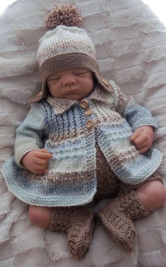 Photo of Baby Knitting Patterns – Baby Boy PDF Knitting Pattern for Knitted Sweater Set Cardigan Hat Trousers & Booties Instant Download Reborn Dolls