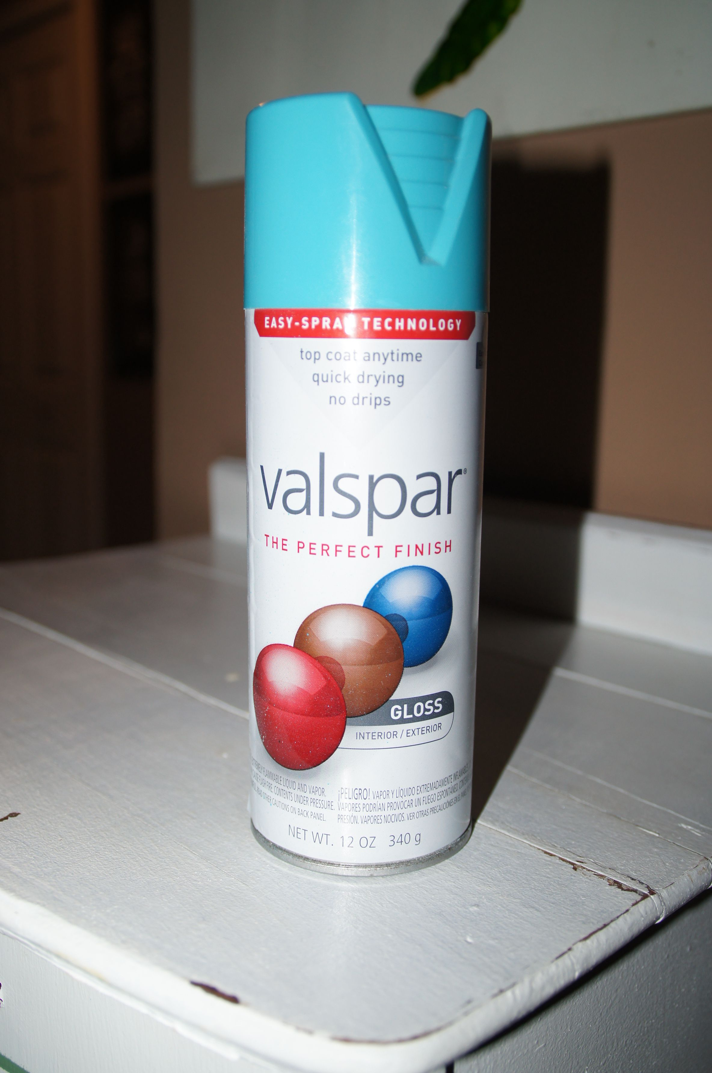 Valspar Exotic Sea Spray Paint For The Lamp Base