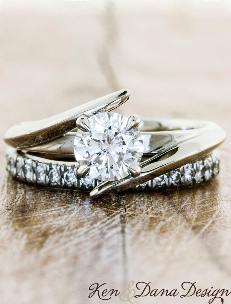 Unique Custom Engagement Rings by Ken & Dana Design - This is gorgeous! I want it!!