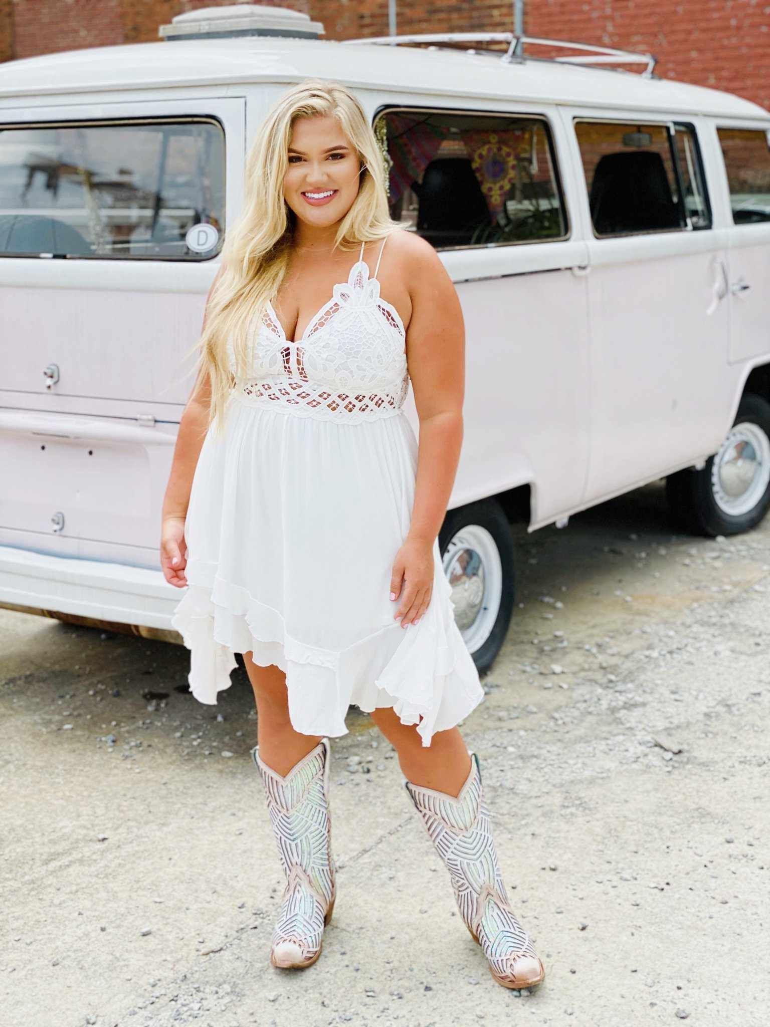 Double The Love Dress White Summer Dresses Curvy White Dress White Dress Summer [ 2048 x 1536 Pixel ]