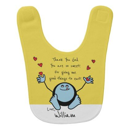 Personalized babys meal prayer with blue emoji bib baby gifts personalized babys meal prayer with blue emoji bib baby gifts giftidea diy unique cute negle Images
