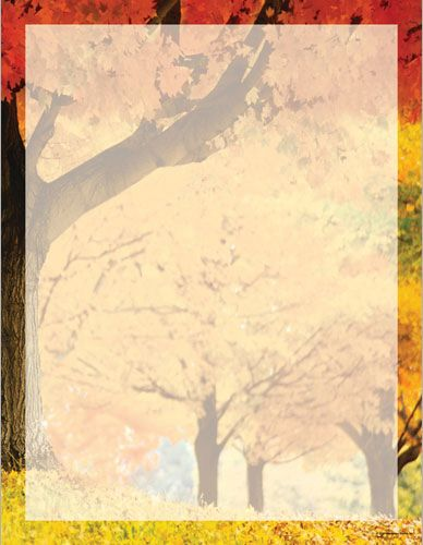 Featuring a beautiful autumn scene of trees and leaves, in - fall flyer