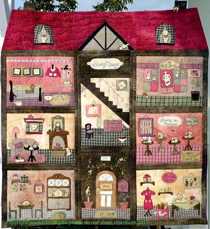 La revista burda patchwork ha empezado a publicar la - Casas de patchwork ...
