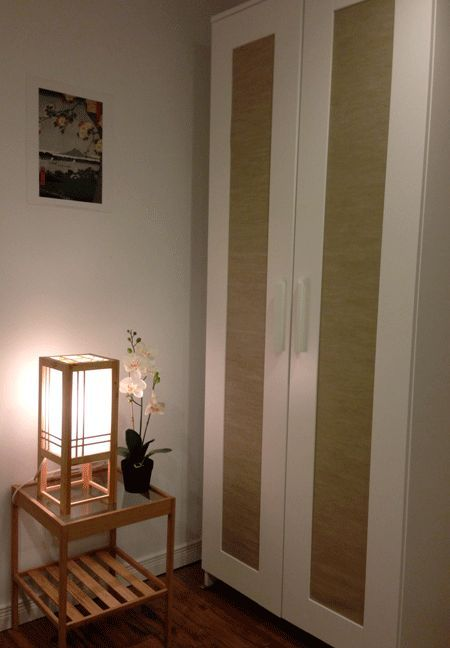 Ikea Japanese Wardrobe Using Panel Curtain To Dress Up An Ikea Wardrobe To Fit A
