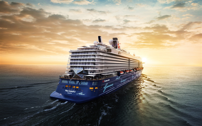 Download Wallpapers Cruise Liner Passenger Liner Luxury Ship Sea Schiff Tui Royal Caribbean Cruises Mein Schiff 5 Tui Cruises Schiff Tui Cruises Tui Cruises Mein Schiff