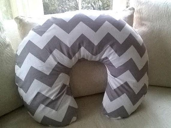 Ready to Ship Gray Chevron Boppy Cover  Full zip by NocturnalNoah, $20.00