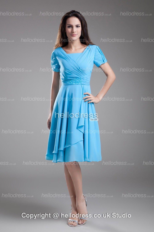 Knee-length Chiffon Petite Summer Beach Mother Of The Bride Dress ...
