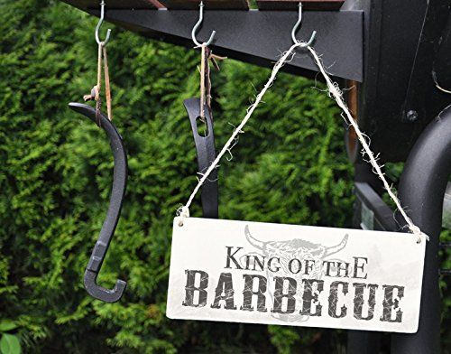 Holzschild King of the Barbecue B x H: 25cm x 10cm