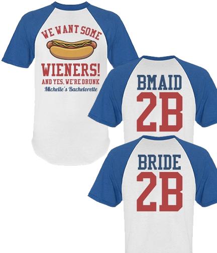 Sports Bachelorette Party Shirt For Baseball Football