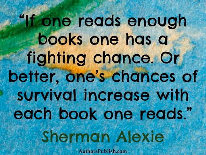 Sherman Alexie on reading