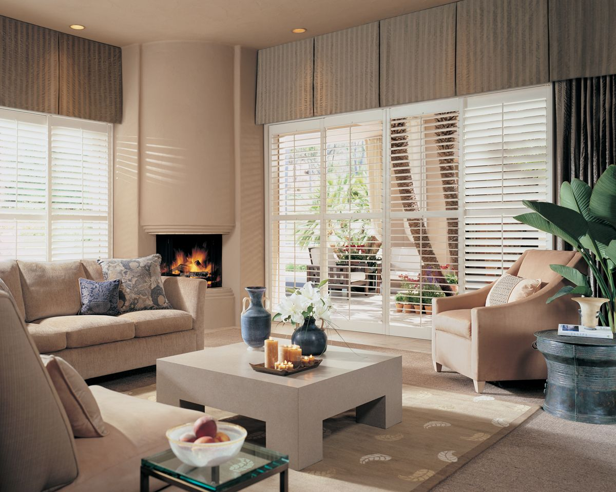Deep Box Pleated Valances Conceal The Wall Space Above The Windows Which  Gives The Windows The