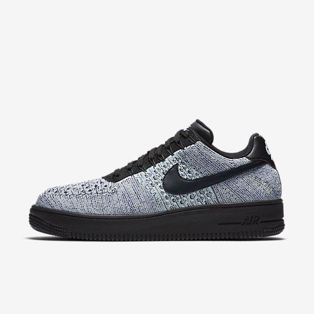 new style 89795 1810c Chaussure Nike Air Force 1 Pas Cher Homme Flyknit Low Bleu Glacier Blanc  Bleu Royal Profond