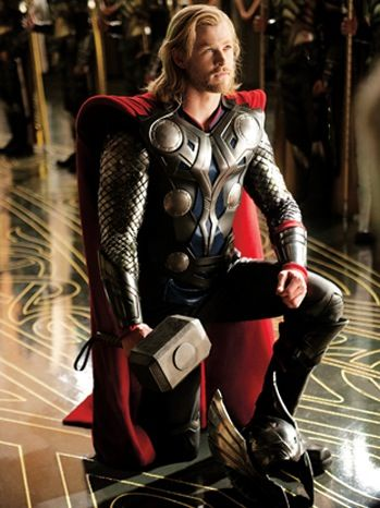 Thor: olden day manner, charming arrogance, incredible strength, honorable loyalty... his looks are just a bonus...