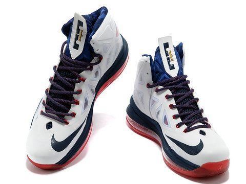 Nike LeBron 10 X White Navy Gold Varsity Red,Style code:542244-100
