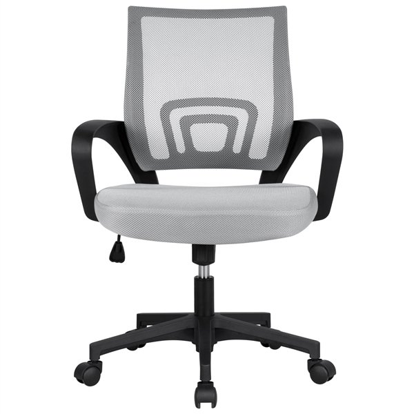 Smilemart Mid Back Adjustable Rolling Desk Chair Gray Walmart Com In 2020 Ergonomic Office Chair Mesh Office Chair Adjustable Office Chair