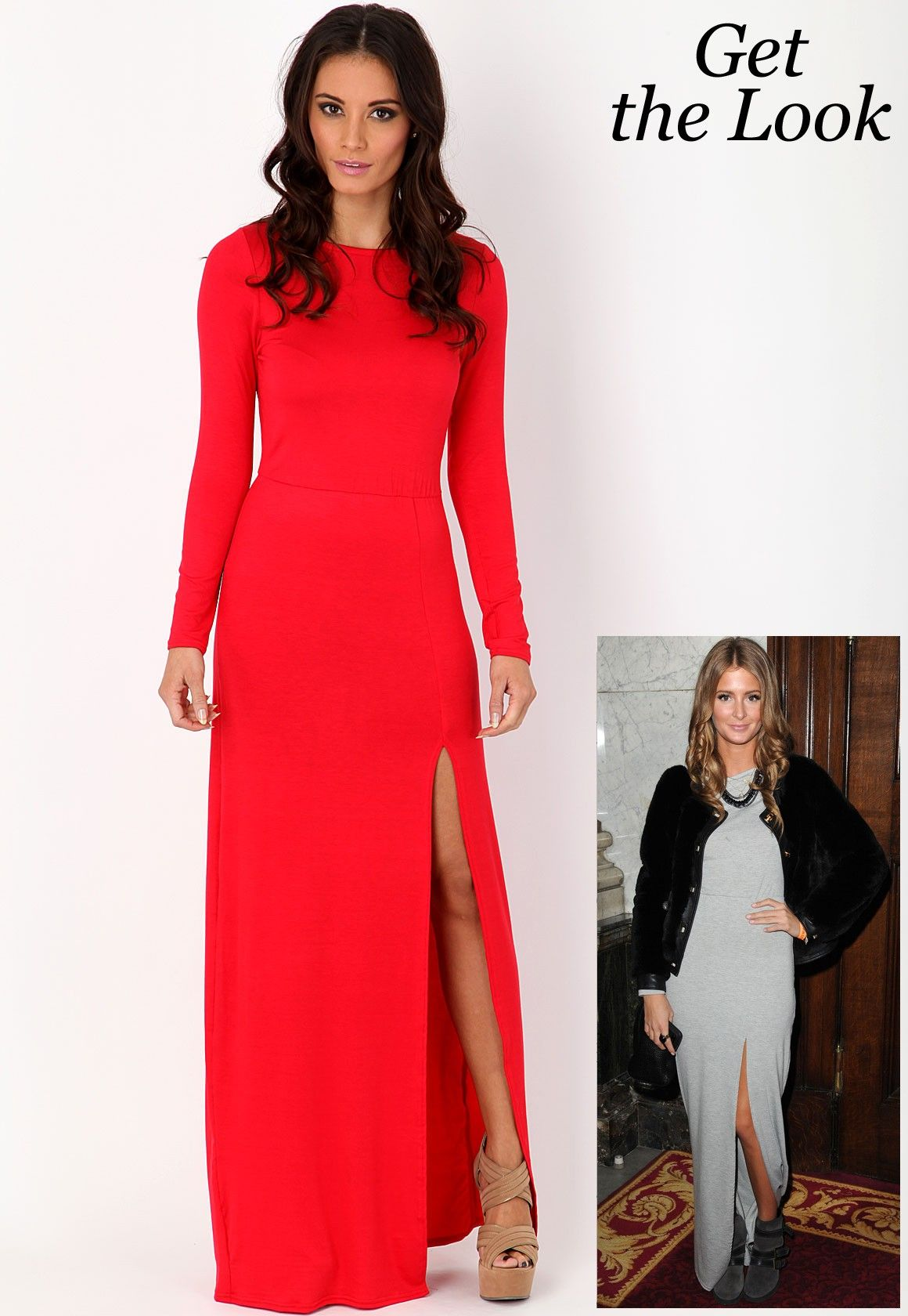 Larysa long sleeve jersey maxi dress style pinterest jersey