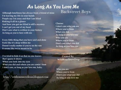 My Poems Recipes English Sinhala Lyrics Quotes As Long As You Love Me Songs With Meaning I Love You Words Song Lyric Posters