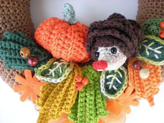 Photo of Crochet Pattern – wreath pattern – Crochet autumn Wreath  – crochet wreath – door wreath – INSTANT DIGITAL DOWNLOAD