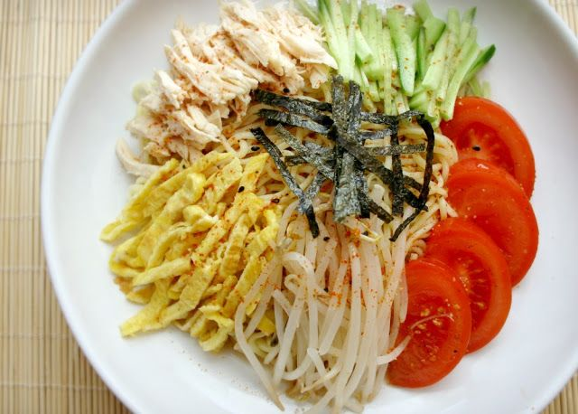 Spicy Japanese Cold Summer Noodles (Hiyashi Chuka)