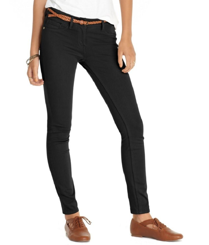 Maison Jules Women's New $59.50 Deep Black Sophie Everyday Skinny Leg Pants (0) #MaisonJules #CasualPants