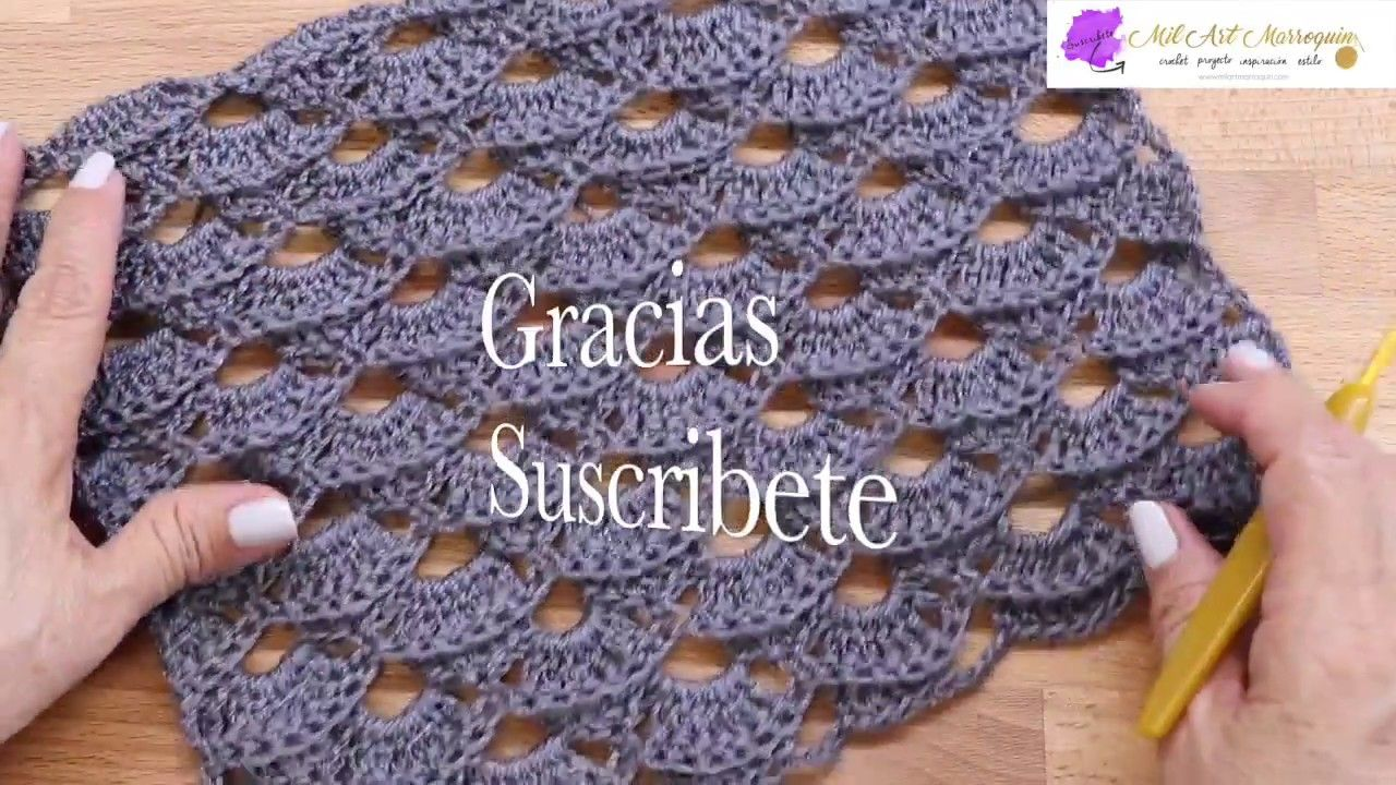 Como Tejer Chal a Crochet Rectangular | crochet | Pinterest | Como ...