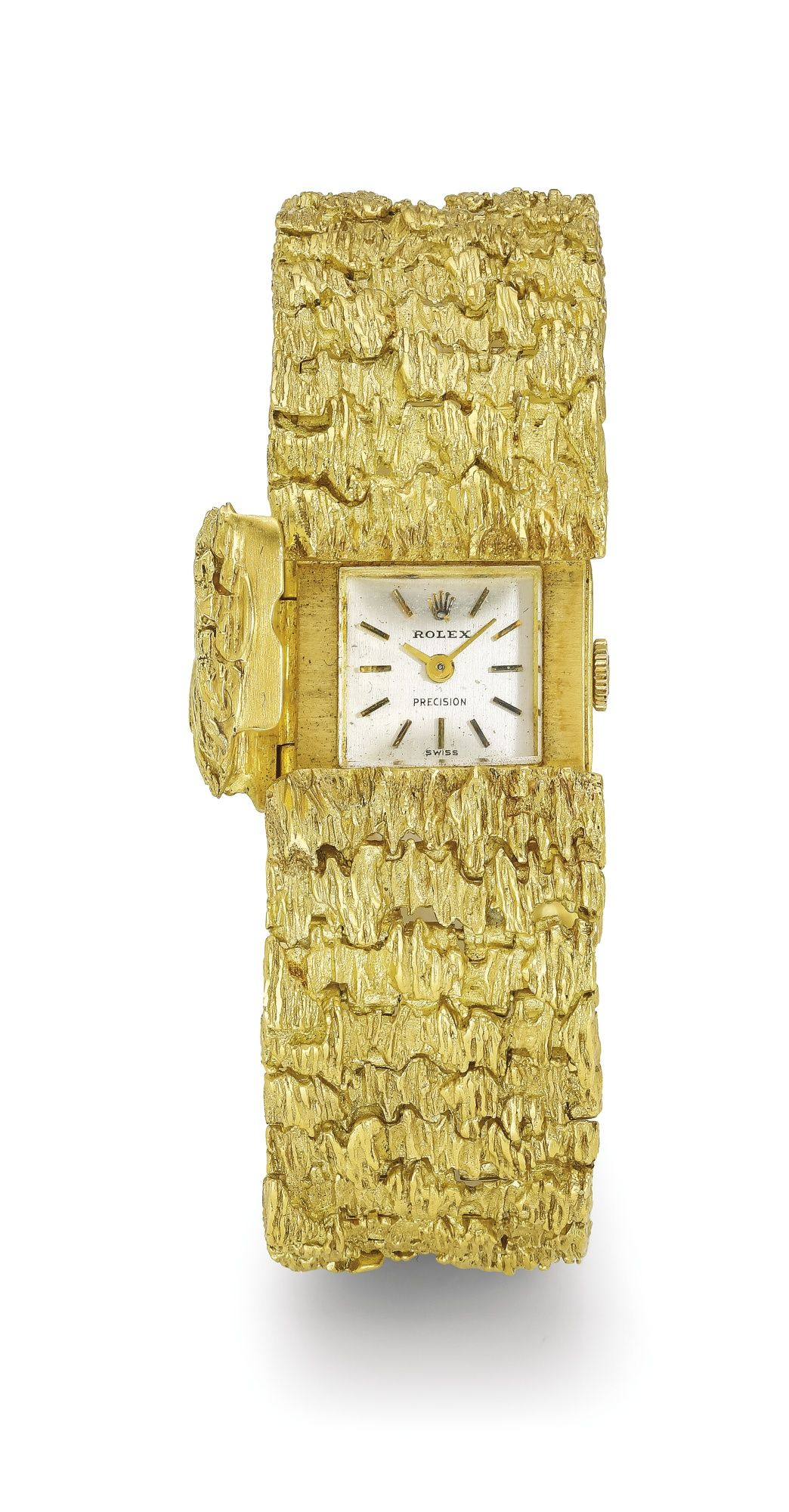 Rolex a ladyus yellow gold concealed dial bracelet watch ref