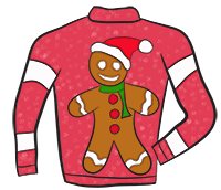 gingerbread man clipart ugly sweaters pinterest clipart images rh pinterest com Tacky Christmas Sweater Clip Art Ugly Christmas Sweater Clip Art Free Download